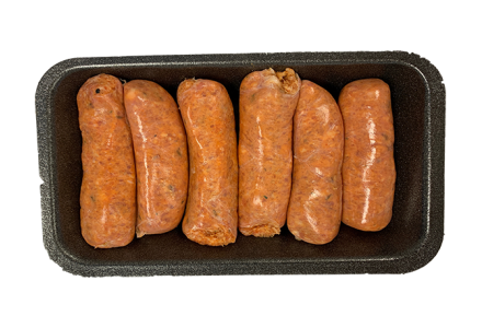 Pork and chilli sausages